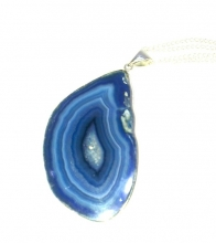 Agate Slice Pendant - Various Colours