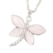 Rose Quartz Dragonfly Pendant